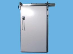 Porte coulissante isotherme pctp industrie portes produits plasteurop vos ambiances - Porte isotherme chambre froide ...